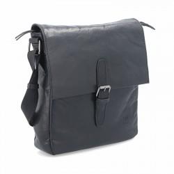 černá kožená pánská crossbody taška BS 2204