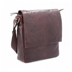 tmavě hnědá kožená pánská crossbody taška BS 2207