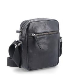 černá kožená pánská crossbody taška BS 2214