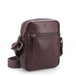 tmavě hnědá kožená pánská crossbody taška BS 2214