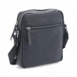 černá kožená pánská crossbody taška BS 2206