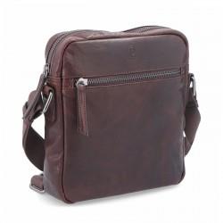 tmavě hnědá kožená pánská crossbody taška BS 2206
