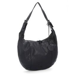černá kožená kabelka BS 2093