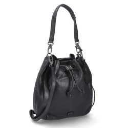 černá kožená kabelka BS 2065