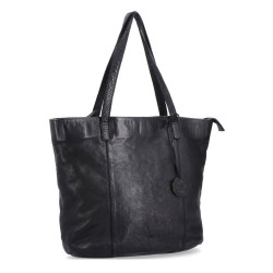 černá kožená kabelka BS 2047