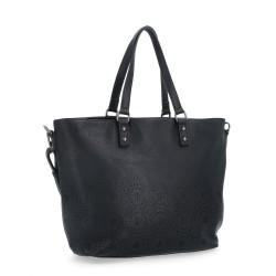 černá kabelka s perforací 6261