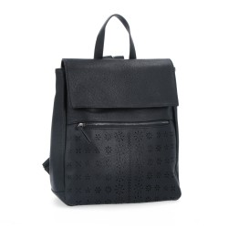 černý batoh s perforací 6255