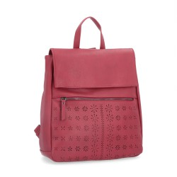 červený batoh s perforací 6255