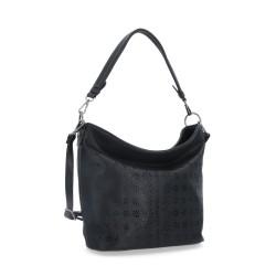 černá kabelka s perforací 6252