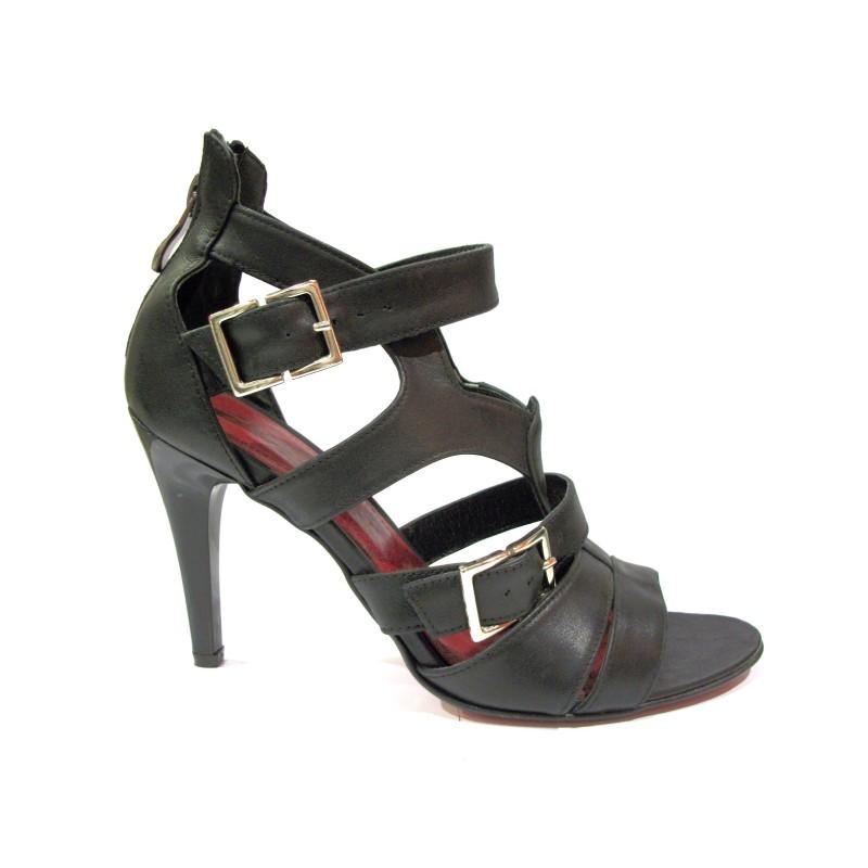 b87db66c06e3 černé otevřené lodičky na vysokém podpatku - Danea-Shoes