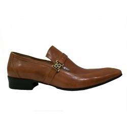 černá kožená lakovaná společenská obuv