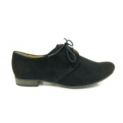 semišová šněrovací obuv