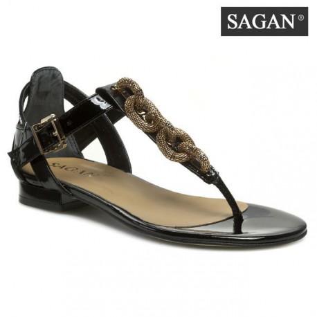 modro bílé kožené sandálky na podpatku