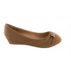 béžovo zdobené sandálky na klínku