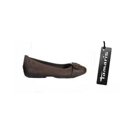 černá kožená kotníčková obuv TAMARIS