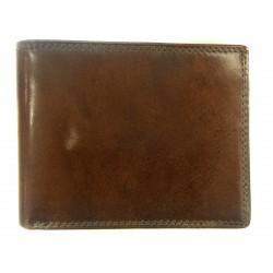 pánská tmavá kožená peněženka