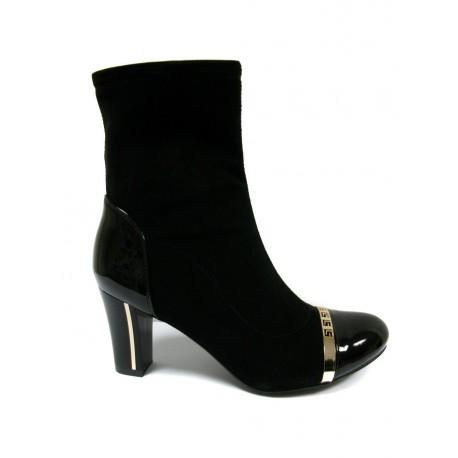 černá kotníčková obuv s ozdobným zipem