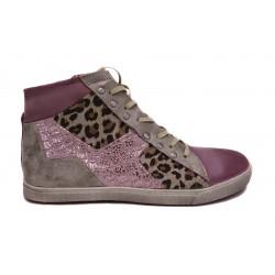 béžové kožené tenisky s leopardím vzorem